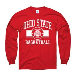 Ohio State Buckeyes Youth Wide Stripe Basketball Long Sleeve T-Shirt