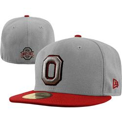 Ohio State Buckeyes New Era Grey/Red 59FIFTY Fitted Hat