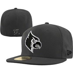 Louisville Cardinals New Era Graphite 59FIFTY Fitted Hat