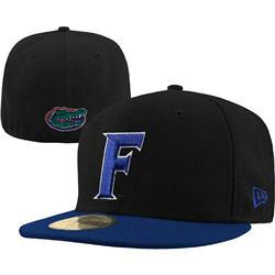 Florida Gators New Era Black/Royal 59FIFTY Fitted Hat
