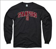 Stanford Cardinal Youth Black Perennial II Long Sleeve T-Shirt