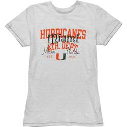 Miami Hurricanes Women's White Swaggle Slub T-Shirt