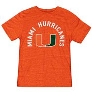 Miami Hurricanes Orange adidas Round Off Tri-blend T-Shirt