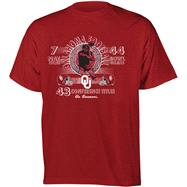 Oklahoma Sooners Football Diode Retro Graphic Stat T-Shirt