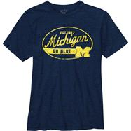 Michigan Wolverines Navy Whiffle Dyed Slub Knit T-Shirt