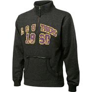 LSU Tigers Charcoal Collegiate Crush 1/4 Zip Fleece Sweatshirt