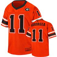 Georgia Bulldogs Youth Red Stadium Football Jersey