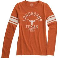 Texas Longhorns Women's Burnt Orange Tie Break Long Sleeve T-Shirt