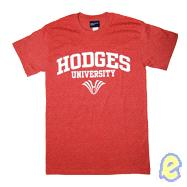 Hodges Name & Logo Heather Cardinal Tee
