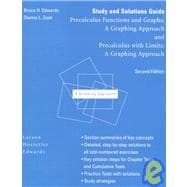 Study and Solutions Guide for Larson/Hostetler/Edwards' Precalculus With Limits: A Graphing Approach, 2nd