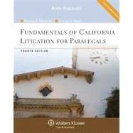 Fundamentals of California Litigation for Paralegals 4e,9780735587298