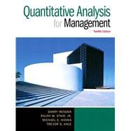 Quantitative Analysis for Management, 12/e,9780133507331