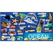 Ocean Plants and Animals Mini Bulletin Board Set, 9780545177528  
