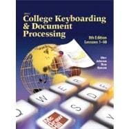 Gregg College Keyboarding & Document Processing (GDP), Lessons 1-60, Student Text,9780078257568