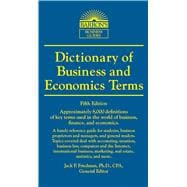 Dictionary of Business and Economic Terms, 9780764147579