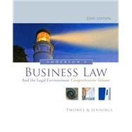 Buy Anderson's Business Law and the Legal Environment, Comprehensive Volume by Twomey, David P.