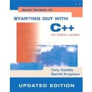 Starting Out with C++: Brief Version Update