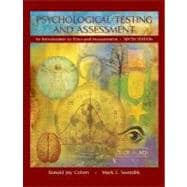 Psychological Testing and Assessment : An Introduction to Tests and Measurement,9780072887679