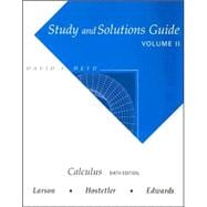 Study Guide with Solutions, Volume 2 for Larson/Hostetler/Edwards' Calculus, 6th
