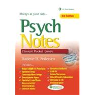 Psych Notes: Clinical Pocket Guide,9780803627710