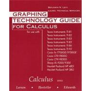 Graphing Technology Guide for Larson/Hostetler/Edwards' Calculus, 6th,9780395887738