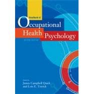 Handbook of Occupational Health Psychology,9781433807763