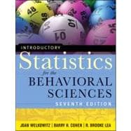 Introductory Statistics for the Behavioral Sciences,9780470907764