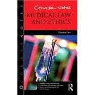 Course Notes: Medical Law and Ethics,9781444167870