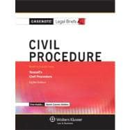 Civil Proceedure: Keyed to Yeazell,9781454807995