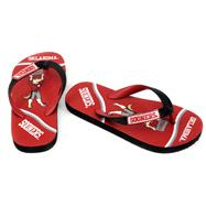 Oklahoma Sooners Youth Zori Flip Flops