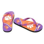 Clemson Tigers Youth Zori Flip Flops