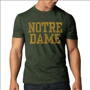 Notre Dame Fighting Irish '47 Brand Bottle Block Name Vintage Scrum T-Shirt