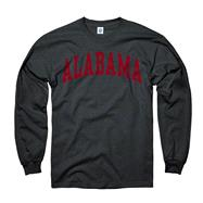 Alabama Crimson Tide Youth Black Arch Long Sleeve T-Shirt