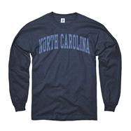 North Carolina Tar Heels Youth Navy Arch Long Sleeve T-Shirt