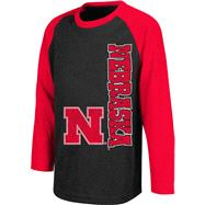 Nebraska Cornhuskers Black Kids 4-7 Warrior Long Sleeve T-Shirt