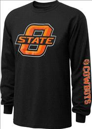 Oklahoma State Cowboys Old Varsity Brand Black Youth Double Hit II Long Sleeve T-Shirt