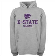 Kansas State Wildcats Youth Grey Tackle Twill Hooded Sweatshirt