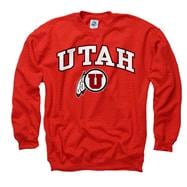 Utah Utes Youth Red Perennial II Crewneck Sweatshirt