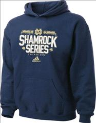 Notre Dame Fighting Irish adidas Chicago 2012 Shamrock Series Structure Youth Hooded Sweatshirt