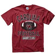 South Carolina Gamecocks Youth Cardinal Jock Football T-Shirt
