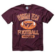 Virginia Tech Hokies Youth Maroon Jock Football T-Shirt