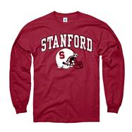 Stanford Cardinal Cardinal Football Helmet Long Sleeve T-Shirt