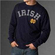 Notre Dame Fighting Irish Navy '47 Brand Letterman Crewneck Sweatshirt