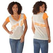 Tennessee Volunteers Women's Tn Orange Zone Coverage Deep V-Neck T-Shirt