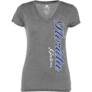 Florida Gators Women's Heathered Charcoal Cannon Tee