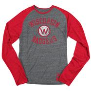 Wisconsin Badgers Red adidas Originals Gym Class Tri-Blend Long Sleeve Tee