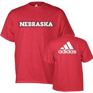 Nebraska Cornhuskers Red adidas Dot Mark T-Shirt
