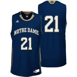 Notre Dame Fighting Irish Youth adidas Navy #21 Replica Basketball Jersey