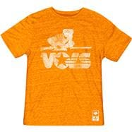 Tennessee Volunteers adidas Originals Heathered Orange Vault Logo Tri-Blend T-Shirt
