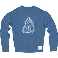 Duke Blue Devils Blue Retro Brand Vintage Fire Crewneck Sweatswhirt
